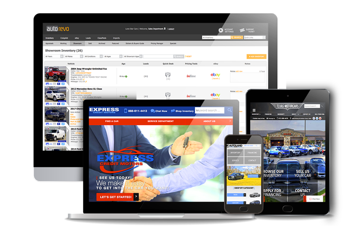 car dealer websites - AutoRevo